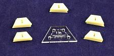 "Buy Mylar 1"" Half Hexagon 51 Piece Set - Quilting / Sewing Templates"