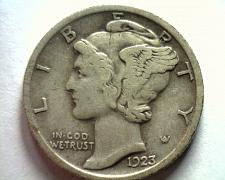 Buy 1923 MERCURY DIME EXTRA FINE XF EXTREMELY FINE EF NICE ORIGINAL COIN BOBS COINS