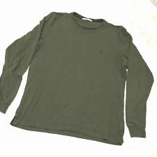Buy CH Carolina herrera crew neck t-shirt green olive long sleeve Size M