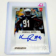 Buy NFL KENDALL REYES SAN DIEGO CHARGERS AUTOGRAPHED 2012 PANINI PRIZM RC MINT
