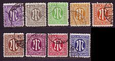 Buy GERMANY Alliiert AmBri [1945] MiNr 0001-09 ( O/used )