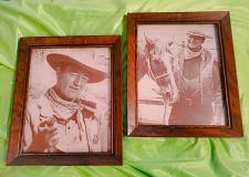 Buy RARE LOT OF 2 JOHN WAYNE THE DUKE WOOD FRAMED 8 x 10 PHOTOS NICE