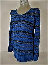 Buy MOTHERHOOD MATERNITY womens Large BLUE BLACK SILVER METALLIC SWEATER (J)P