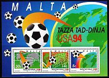 Buy MALTA [1994] MiNr 0933-35 Block 14 ( **/mnh ) Fußball