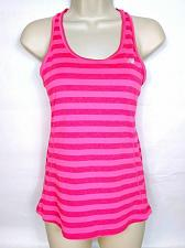 Buy New Balance Women's Lightning Dry Racerback Tank Top XS Pink Striped Athletic