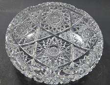 Buy American Brilliant Period hand Cut Glass bowl hobstar sharp