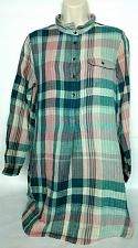 Buy Loft Outlet Womens Lounge Tunic Size XS Pink Green Plaid Long Sleeve