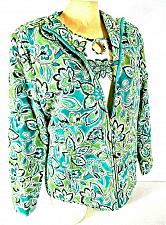 Buy Alfred Dunner womens Sz 8 blue green brown 2 PIECE top and jacket set (B8)