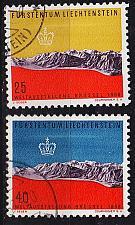 Buy LIECHTENSTEIN [1958] MiNr 0369-70 ( O/used ) Landschaft