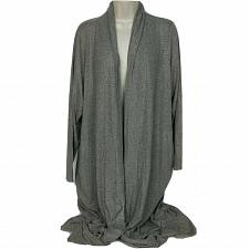 Buy Lisa Rinna Collection Petite Open Front Duster Cardigan XLP Gray Long Sleeve
