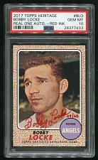 Buy 2017 TOPPS HERITAGE REAL ONE RED AUTO BOBBY LOCKE PSA 10 GEM MINT (28377433)