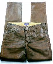 Buy NYDJ Women's Sheri Skinny Leg Jeans Size 4P Coated Brown Lift Tuck Stretch