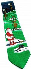Buy Hallmark Santa Claus Reindeer Playing Golf Funny Christmas Novelty Tie