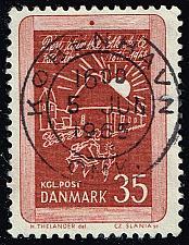 Buy Denmark #411 Drawing of Early Public School; Used (1Stars) |DEN0411-01XBC