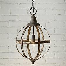 Buy Hanging Distressed Ceiling Pendant Light Lamp Fixture Sphere Kitchen Dining Room