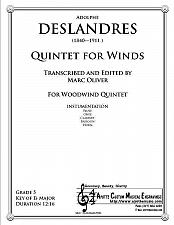 Buy Deslandres - Quintet for Winds