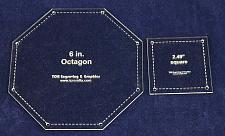 """Buy Matching Square/Octagon Set Templates. 6"""". - Clear 1/8"""""""