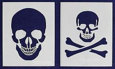 """Buy Large Skull 2 Piece Stencil Set 14 Mil 8"""" X 10"""" Painting /Crafts/ Templates"""