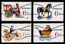 Buy US #1415a-1418a Christmas Toys Precanceled Set of 4; MNH (5Stars) |USA1418aset-04