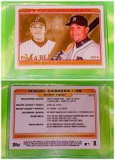 Buy MLB MIGUEL CABRERA DETROIT TIGERS 2014 TOPPS SUPER VETERAN INSERT #SV2 MNT