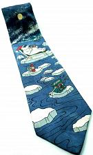 Buy Polar Bear Relaxing Sunglasses Fishing On Ice North Pole Arctic Novelty Tie