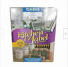 Buy Casio Kitchen Ez Label Maker KL-750 Gray Brand New Sealed
