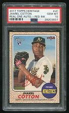 Buy 2017 TOPPS HERITAGE REAL ONE RED AUTO JHAREL COTTON PSA 10 GEM MINT (28203937)