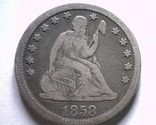 Buy 1856 SEATED LIBERTY QUARTER VERY FINE VF NICE ORIGINAL COIN BOBS COINS FAST SHIP
