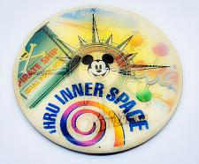 "Buy 1995 WALT DISNEY WORLD 40 YEARS OF ADVENTURE 5"" COLLECTIBLE 3-D PINBACK BUTTON"