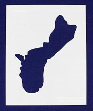 "Buy Island of Guam Stencil 14 Mil 8"" X 10"" Painting /Crafts/ Templates"