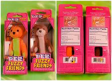 Buy VINTAGE LOT OF 2 FUZZY FRIENDS FACTORY SEALED PEZ DISPENSERS IN ORIGINAL BOX