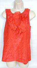 Buy J Crew Womens Sheer Ruffled Sleeveless Tank Top 2 Side Zip Coral
