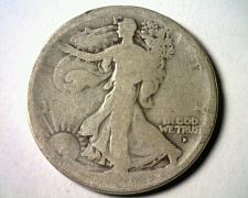 Buy 1916-D WALKING LIBERTY HALF ABOUT GOOD AG NICE ORIGINAL COIN BOBS COIN FAST SHIP