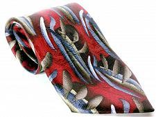 Buy J Garcia Men's Dress Necktie 100% Silk Butterflies III Abstract Red