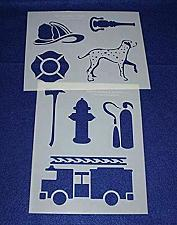 """Buy Fire Department Stencils -Mylar 2 Pieces of 14 Mil 8"""" X 10""""- Painting /Crafts/ T"""