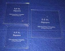 """Buy Square Half Size Templates. 4.5"""", 5.5"""", 6.5"""" - Clear 1/8"""""""