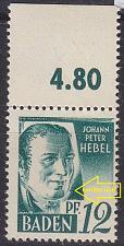 Buy GERMANY Alliiert Franz. Zone [Baden] MiNr 0004 vv II ( **/mnh )