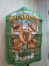 Buy Cotton Tea Towel THE MUSIC OF IRELAND Instruments Harp Fiddle Irish Dancers