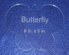 """Buy Butterfly 6"""" X 5"""" - Clear ~1/4"""" Thick Acrylic"""