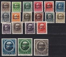Buy GERMANY Bayern Bavaria [1919] MiNr 0152-70 B ( O/used ) [01]