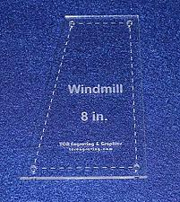 "Buy Windmill Quilting Template- For 8"" Square Clear 1/8"""