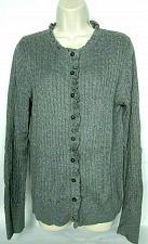 Buy Eddie Bauer Womens Cardigan Sweater Size Large Gray Crew Neck Long Sleeve