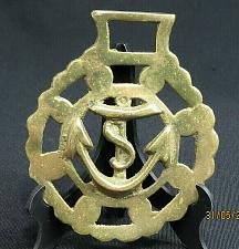 Buy Vintage Horse Brass Medallion Harness Getts Naval Ship Anchor Boat Sail Navy