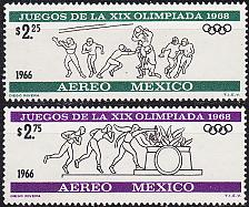 Buy MEXICO [1966] MiNr 1217,18 ( **/mnh ) Olympiade