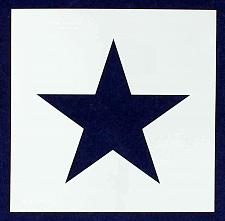 """Buy Single Star Stencil 14 Mil -9"""" X 9"""" Overall - Painting /Crafts/ Templates"""