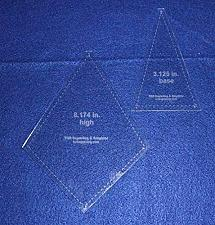 """Buy 2 Piece """"Fan or Kite"""" Shape Set - Quilting Template -1/8"""" Clear Acrylic"""