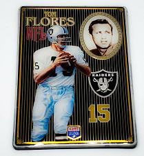 Buy NFL 1993 Metallic Images Quarterback Collection Metal Card #3 TOM FLORES RAIDERS