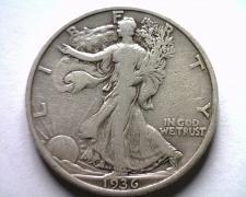 Buy 1936-S WALKING LIBERTY HALF FINE F NICE ORIGINAL COIN BOBS COINS FAST SHIPMENT