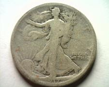 Buy 1917-S REVERSE WALKING LIBERTY HALF GOOD G NICE ORIGINAL COIN FROM BOBS COINS