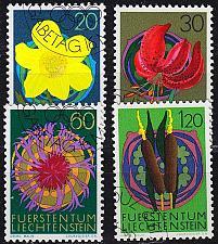 Buy LIECHTENSTEIN [1972] MiNr 0560-63 ( O/used ) Pflanzen